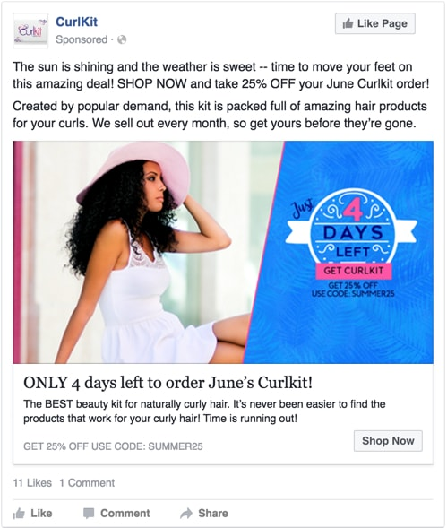 facebook ad urgency