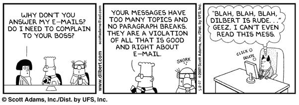 dilbert short email cartoon